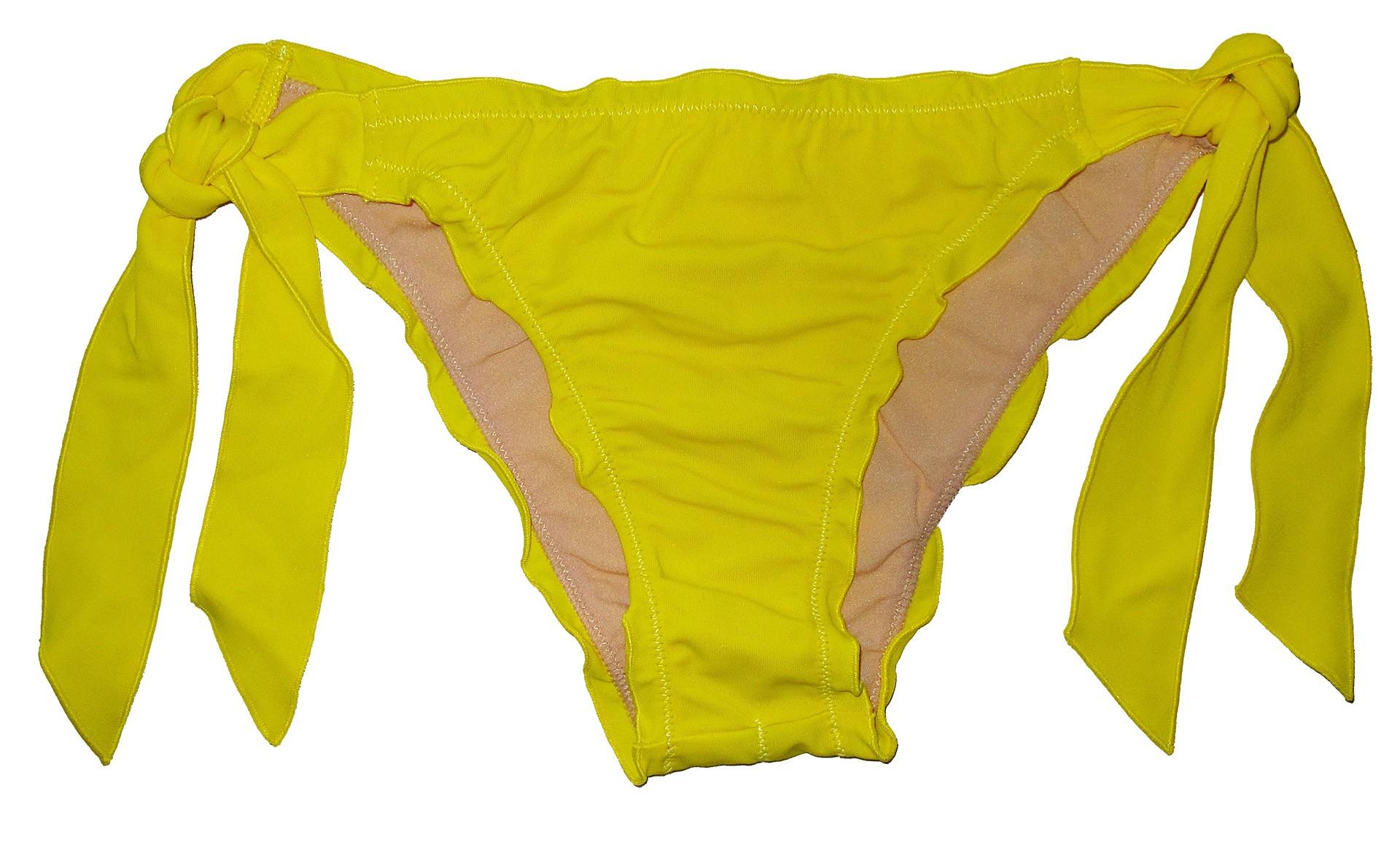 Βαθύ κίτρινο φρου-φρου δετό brazilian slip μαγιό Angel Mare 047 e60b2d6040d