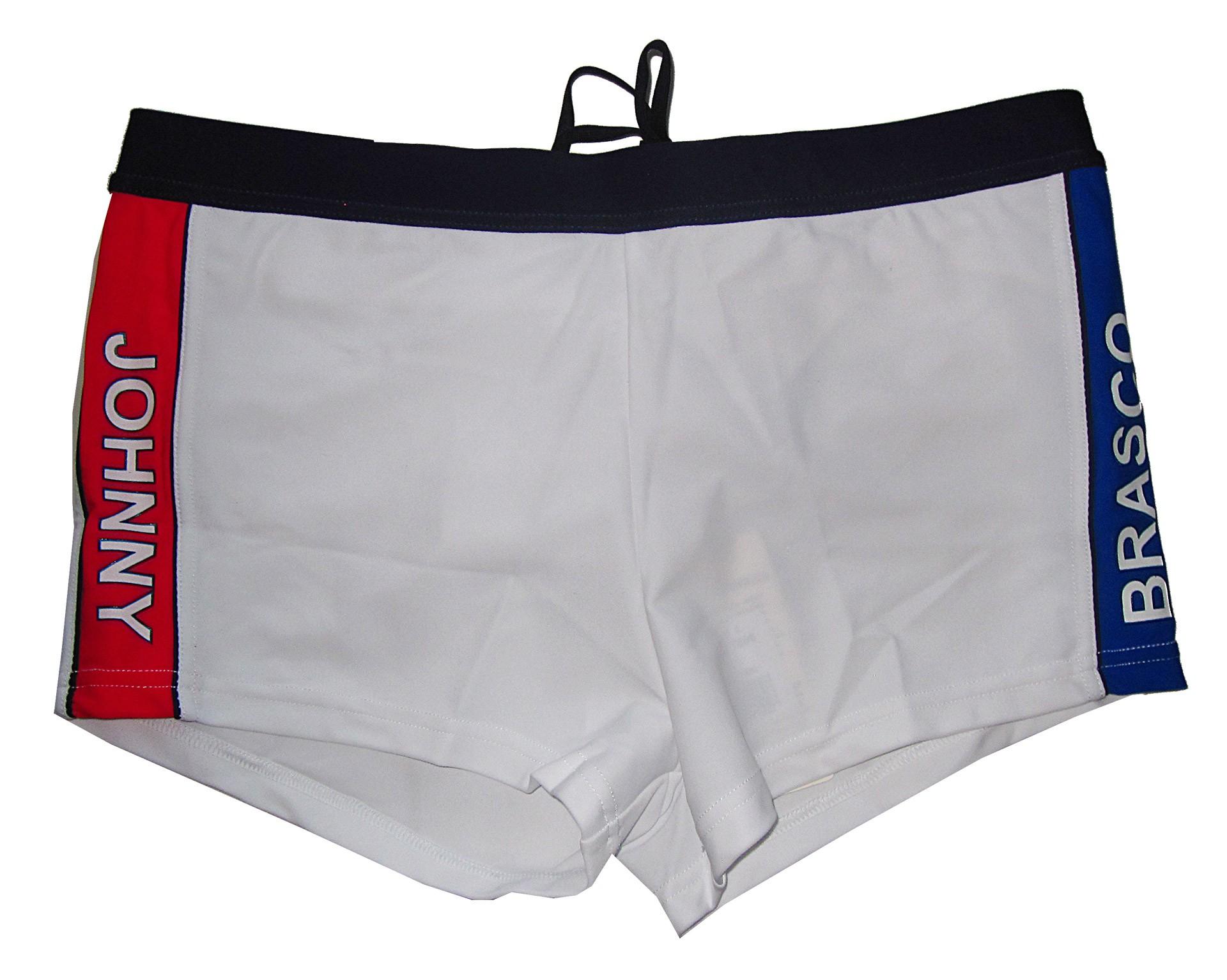 Άσπρο αντρικό ελαστικό boxer μαγιό Johnny Brasco 657806