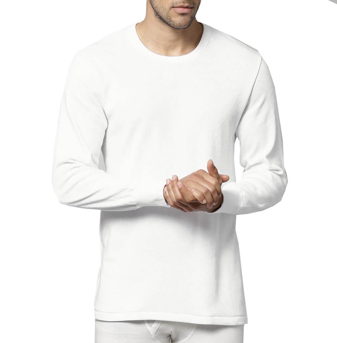 Dedes Thermal άσπρη ισοθερμική μακρυμάνικη αντρική ελαστική φανέλα κωδ.780.5012