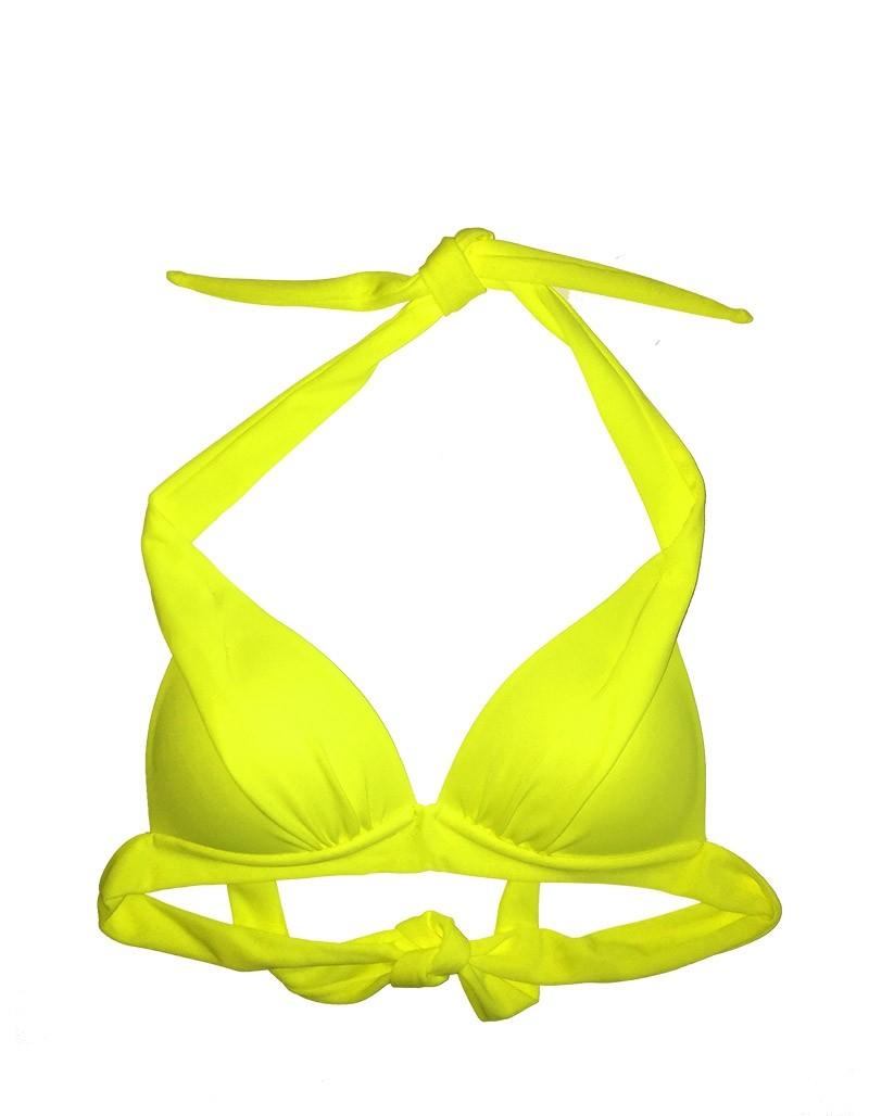 71ba76b4bce Φλούο κίτρινο ενισχυμένο τρίγωνο σουτιέν μαγιό cup B Angel Mare 007
