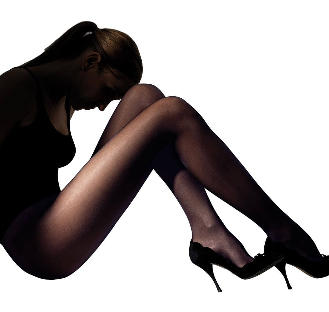 Franzoni μαύρο διάφανο καλσόν 40 denier CLUB40