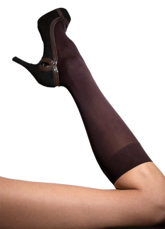 Franzoni καφέ opaque κάλτσες μέχρι το γόνατο 60 denier MICRO60