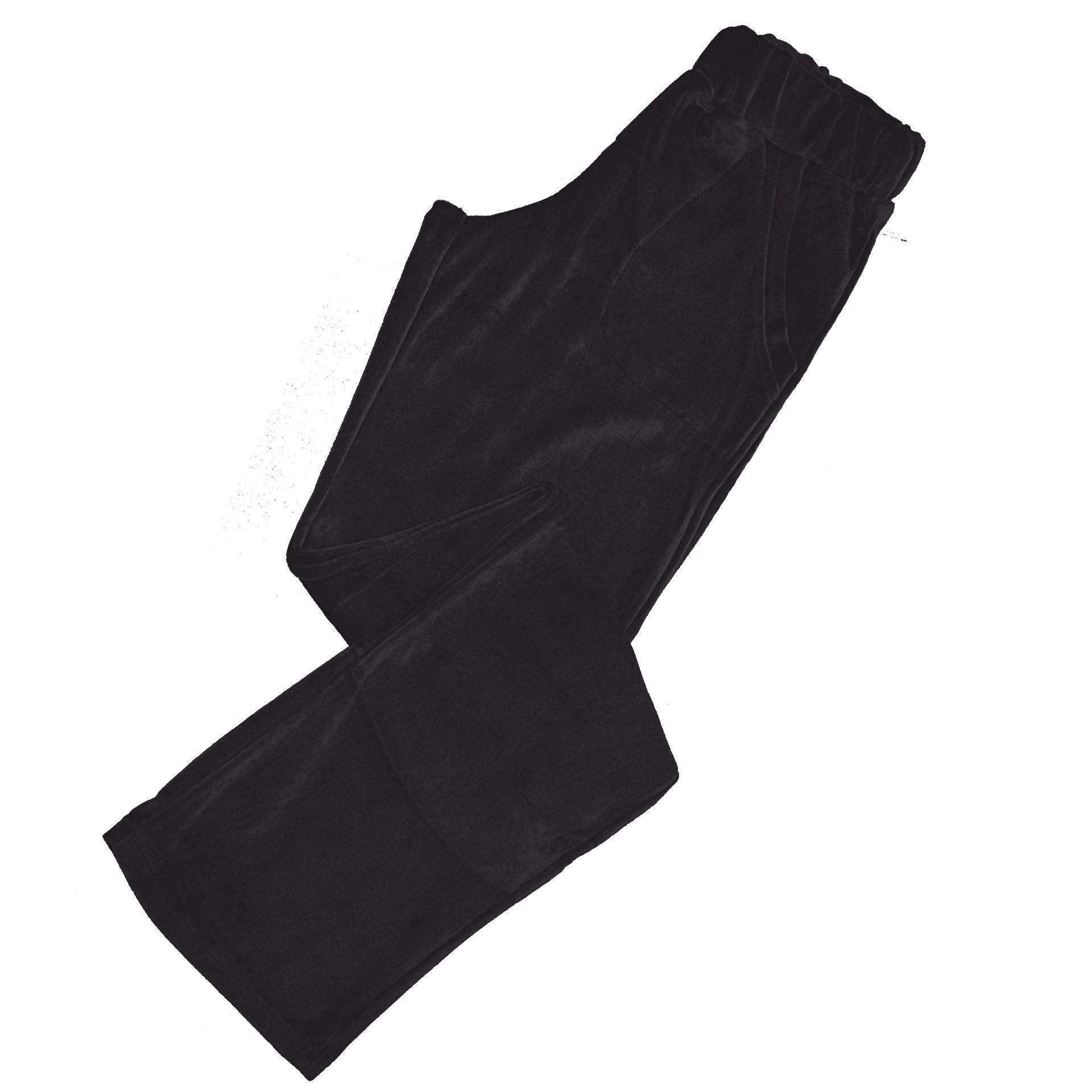 Luna μαύρο βελούδινο παντελόνι φόρμας 1014