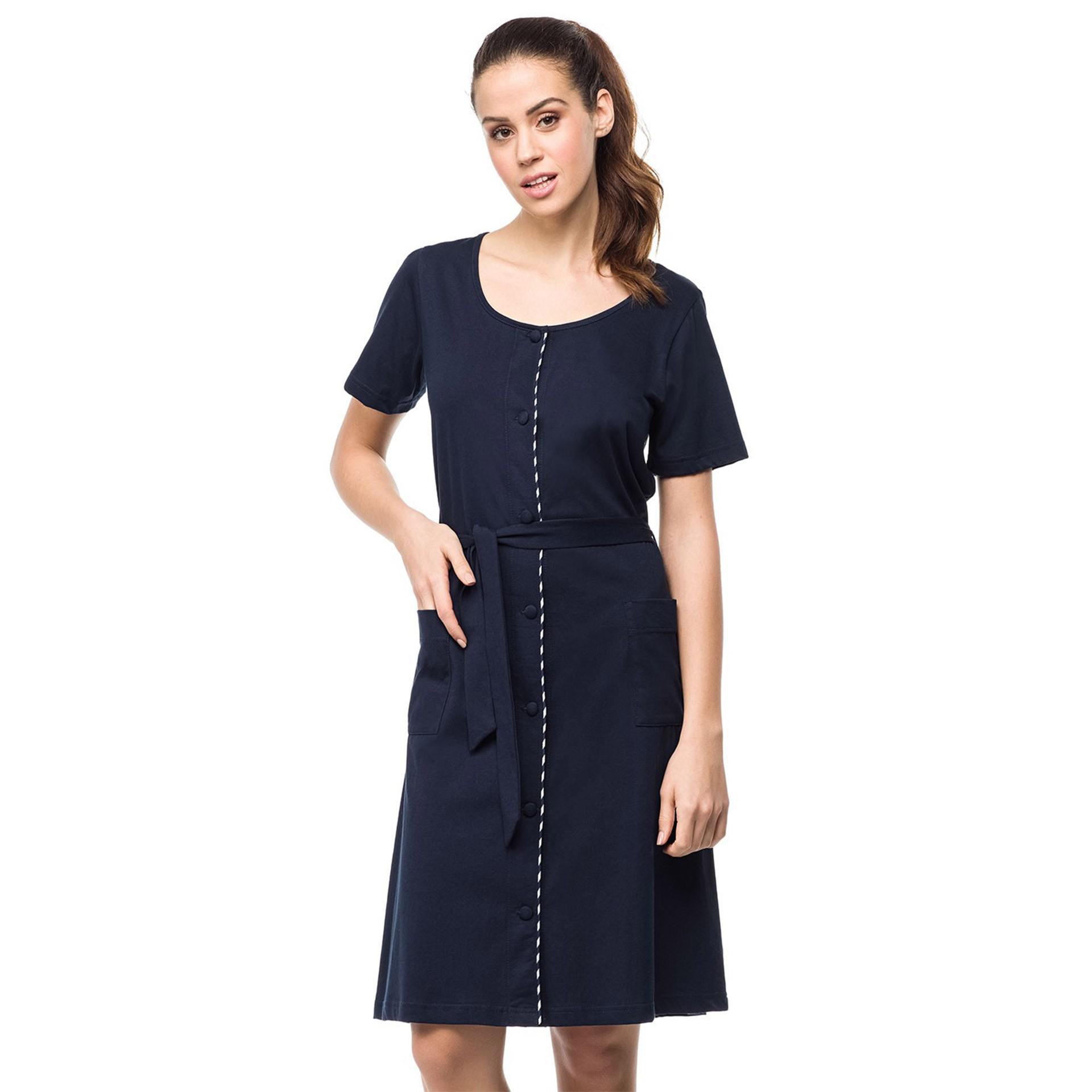 ffb8144d9cc6 Vamp μπλε κλασσικό φόρεμα θαλάσσης με κουμπιά (μεγάλα μεγέθη) 0411
