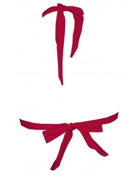 Κόκκινο σουτιέν τρίγωνο μαγιό χωρίς μπανέλα, χωρίς ενίσχυση cup C Angel Mare 012/17