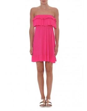 Μίνι στράπλες φόρεμα για τη θάλασσα (ΟΝΕ SIZE) Catwalk 1001