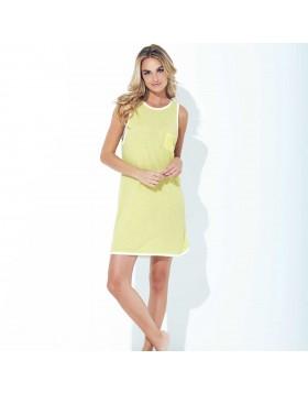 Κίτρινο κοντό φόρεμα / νυχτικό Jadea 3034