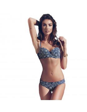 Jadea Chic μπλε σετ balconet σουτιέν cup B με brazilian slip κωδικός 4632