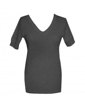 Dedes Thermal γυναικεία γκρι ανθρακί V μακριά κοντομάνικη ισοθερμική μπλούζα 780.5623