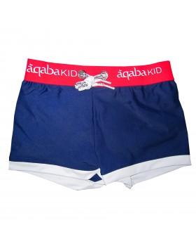 Aqaba μπλε-navy boxer μαγιό για αγόρια AQKA02