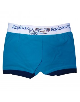 Aqaba τυρκουάζ boxer μαγιό για αγόρια AQKA02