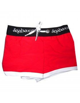 Aqaba κόκκινο boxer μαγιό για αγόρια AQKA02