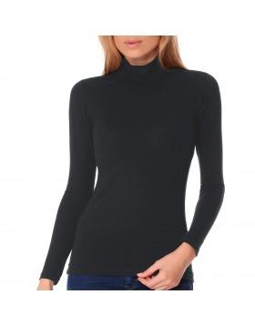 Jadea γυναικεία βαμβακερή μακρυμάνικη μπλούζα με όρθιο λαιμό 4057