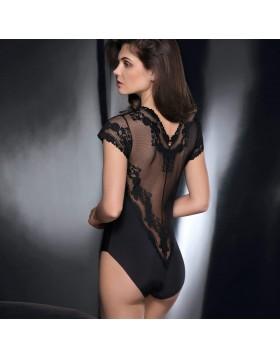 Leilieve μαύρο sexy κορμάκι-μπλούζα Privilege M8808