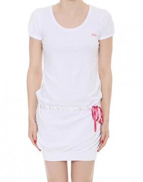 Luna άσπρο βαμβακερό φόρεμα Sportive 8226