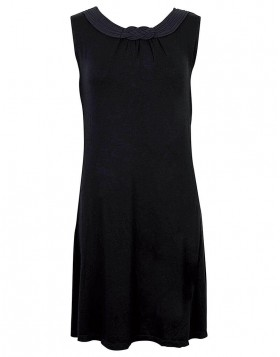 Luna Satinet μαύρο φόρεμα 83059