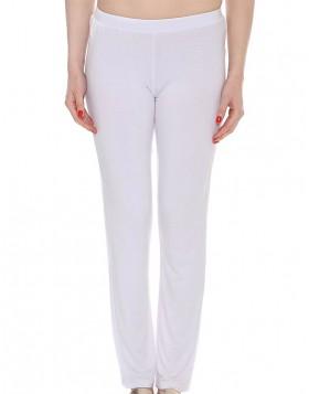 Luna Satinet άσπρο παντελόνι 83058