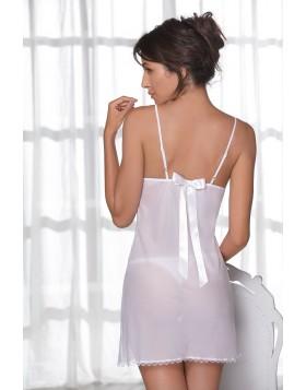Leilieve άσπρο διάφανο κρεπ νεγκλιζέ cup B My Luxury M8905