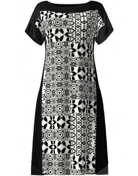 Vamp μαύρο κλασσικό φόρεμα θαλάσσης (μεγάλα μεγέθη) 6910