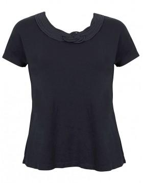 Luna Satinet μαύρη μπλούζα 83057