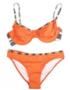 Luna πορτοκαλί bikini set μαγιό balconet D/E & slip Horizon 91168
