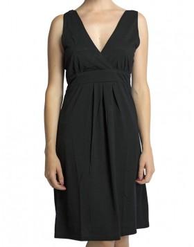 Mae κρουαζέ βισκόζ μαύρο φορεματάκι Μ112