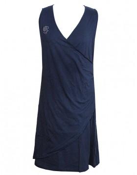 Mae κρουαζέ βισκόζ μπλε φόρεμα M995