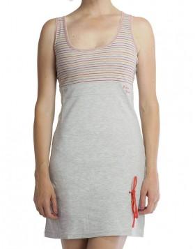 Βαμβακερό γκρί φόρεμα 820