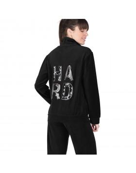 Rachel μαύρη βελουτέ γυναικεία φόρμα Hard 12028