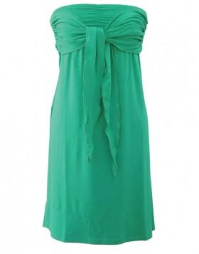 Vamp βισκόζ πράσινο strapless φόρεμα για τη θάλασσα 1307