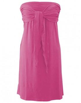 Vamp βισκόζ φούξια strapless φόρεμα για τη θάλασσα 1307