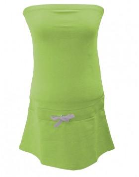 Vamp λαχανί strapless βαμβακερό φόρεμα 2198