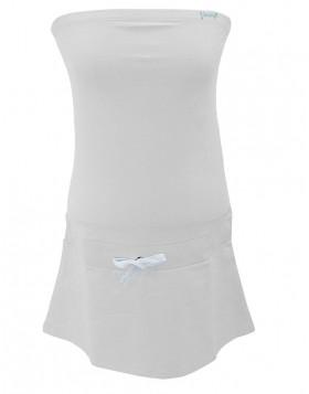 Vamp άσπρο strapless βαμβακερό φόρεμα 2198